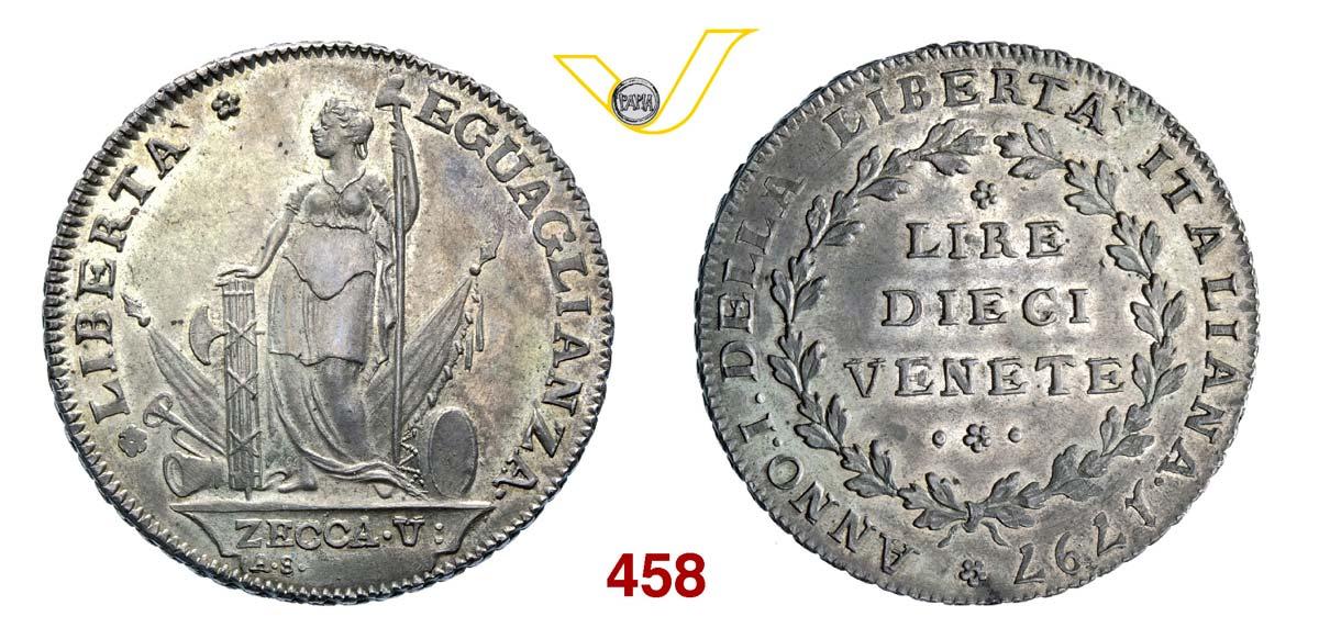 MUNICIPALITA' PROVVISORIA (1797) 10 Lire venete 1797,