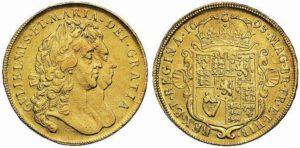 5 ghinee 1693 di Maria II e Guglielmo III (ex Sovereign Rarities 2)