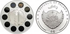 5 dollari 2014 Palau, Gabriel Fahrenheit