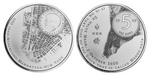 5 euro 2009 in argento (400 anni della scoperta di Manhattan), Olanda