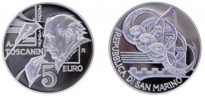 5 euro Arturo Toscanini