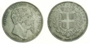 5 lire 1861 di Vittorio Emanuele II (marzo Firenze)