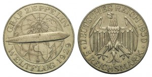 5 reichsmark 1930 in argento, Germania