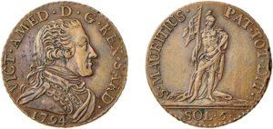 5 soldi VITTORIO AMEDEO III - 1773-1796
