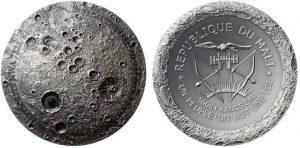 5.000 franchi CFA 2016 in argrento (155,5 g), Repubblica del Mali. meteoriye NWA 7325
