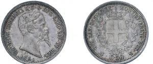 50 centesimi 1861 della zecca di Milano