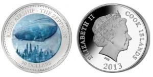 50 dollari 2013 in argento, isole Cook