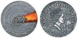 50 dollari 2015 in argento (1.000 g),  isola di Niue, impatto meteorico Campo del Cielo