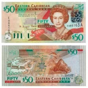 50 dollari dei Caraibi Orientali 2003 - codice ISO XCD