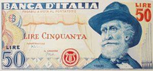 50 lire GIuseppe Verdi