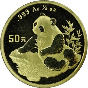 50 yuan 1998 in oro, 0.5 once