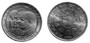 Medaglia monetiforme del 1944.