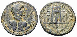 Moneta in bronzo coniata durante il principato di Caracalla