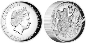 8 dollari 2013 in argento (155,673 g, 50,6 mm, spessore 12,5 mm) Australia