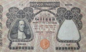 8. 1000 lire banco di napoli Vico