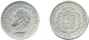 80 lire Carlo Felice 1823