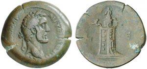 Emidracma in bronzo (16,05 g) coniata ad Alessandria d'Egitto