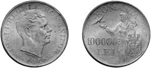il 100.000 lei in argento