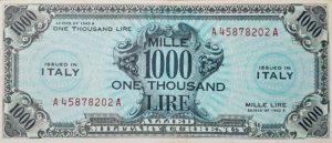 9. 1000 lire bilingua fronte