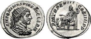 Antoniniano AR -5 -16 g- 215 d. C. di Caracalla - Roma -ex asta CNG 81-