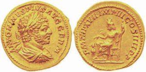 Aureo AV -7 -07 g- 214 d.C. di Caracalla - Roma -ex asta Triton VI-
