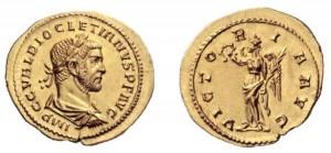 Aurei pre riforma. Foto 1. Aureo di 4,82 grammi coniato a Lugdunum per Diocleziano nel 285-286