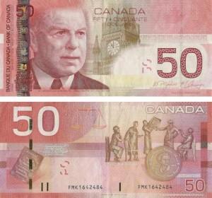 Banconota da 50 dollari 2008 Canada