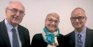 Andrew Burnett, Lucia Travaini e Chris Howgego alla cerimonia di consegna delle medaglie