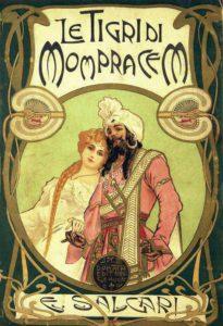 Copertina de Le tigri di Mompracem di E. Salgari, editore Antonio Donati, 1900, Genova