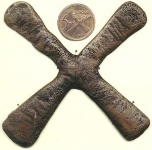 Croce del Katanga e 5 franchi in rame