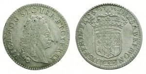 2 lire di Vittorio Emanuele II, re di Sicilia (1713-1719)