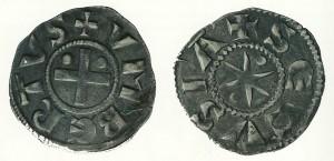 Denaro secusino di Umberto II il Rinforzato (1080-1103)
