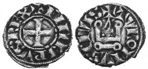 Denaro tornese di Filippo II di Francia