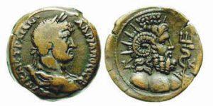 Dracma AE -24 -12 g- 135 136 d.C. di Adriano - busto di Serapis Pantheos -ex asta Triton VI-