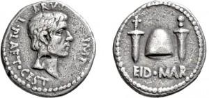 Bruto. 43/42 a.C. Denario