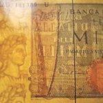 """Esempio di """"filigrana continua"""" tratta dalle mille lire Verdi II tipo."""
