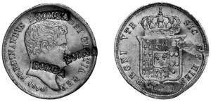"Fig. n. 1: Asta Varesi n. XXXIII ""Utriusque Siciliae"" del 30 maggio 2000, lotto n. 704."