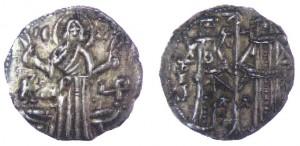 Fig. 1. Dinaro di Ivan Asen I (1186-1196), argento, gr. 1,40, ingrandimento.