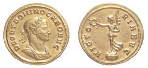 Aureo di 4,57 grammi coniato a Siscia nel 282