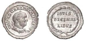 Denario di 2,72 grammi coniato a Roma tra l'aprile ed il luglio del 238