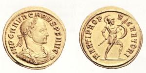Aureo di 5,16 grammi coniato a Siscia nel 282