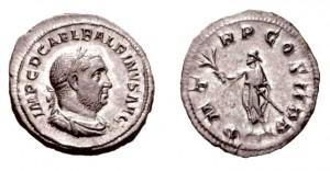 Denario di 3,23 grammi coniato a Roma tra l'aprile ed il luglio del 238