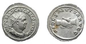 Antoniniano di 4,42 grammi coniato a Roma tra l'aprile ed il luglio  del 238