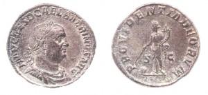 Sesterzio di 20,32 grammi coniato a Roma tra l'aprile ed il luglio del  238