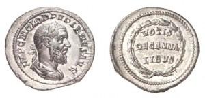 Denario di 3.66 grammi coniato a Roma tra l'aprile ed il luglio del 238