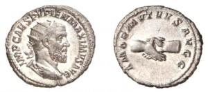 Antoniniano di 4,12 grammi coniato a Roma tra l'aprile ed il luglio del 238
