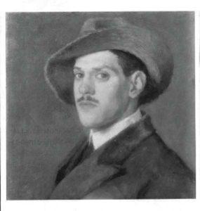 Il ritratto del conte Magnaguti nella foto di Elio Sommariva, 1913 (immagine conservata nella Biblioteca Nazionale Braidese, fondo Sommariva).