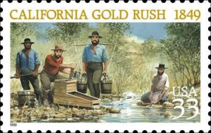 Francobollo da 33 cent 1999 USA, California Gold Rush 1849