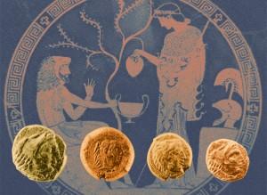 Il profilo di Herakles su alcune monete di Crotone