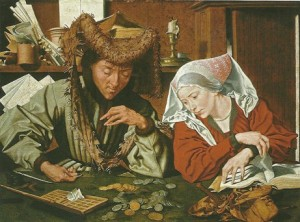 Il cambiavalute e sua moglie 1540 - Marinus van Reymerswaele